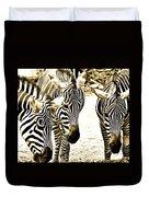 Whispering Zebras Duvet Cover