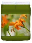 Whispers Of Orange Symphony Duvet Cover