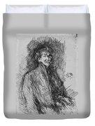 Whistler, Self-portrait.  Duvet Cover