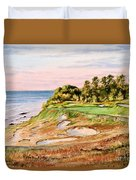 Whistling Straits Golf Course 17th Hole Duvet Cover by Bill Holkham