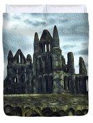 Whitby Abbey, England Duvet Cover