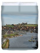 Whitby Marina And The River Esk Duvet Cover