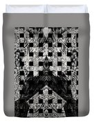 White And Black In My Hands Duvet Cover
