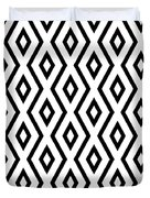 White And Black Pattern Duvet Cover by Christina Rollo
