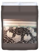 White And Grey Sailing Boats Duvet Cover