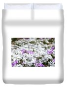 White And Pink Flowers At Botanic Garden In Blue Mountains Duvet Cover