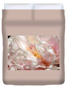 White And Pink Peony 3 Duvet Cover