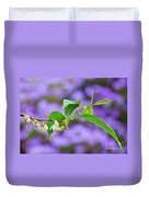 White And Purple Spring 2 Duvet Cover