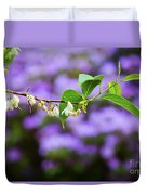 White And Purple Spring Duvet Cover