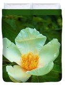 White And Yellow Flower Duvet Cover