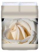 White Angel Rose Duvet Cover