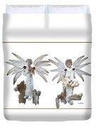White Angels Duvet Cover