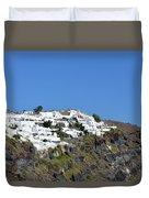 White Architecture In The City Of Oia In Santorini, Greece Duvet Cover