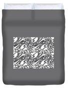 White Arrows Seamless Pattern Duvet Cover