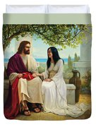 White As Snow Duvet Cover by Greg Olsen