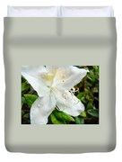 White Azalea Flower 9 Azaleas Raindrops Spring Art Prints Baslee Troutman Duvet Cover