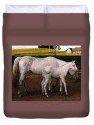 White Baby Horse Duvet Cover