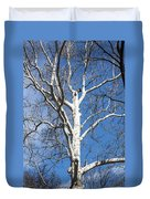 White Bark Duvet Cover