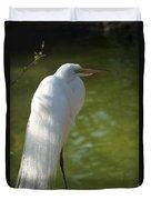 White Beauty Of The Marsh Duvet Cover