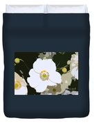 White Beauty Work Number 6 Duvet Cover