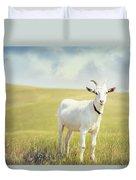 White Billy Goat Duvet Cover