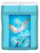 White Bird From Kingdom Of Immortals Duvet Cover