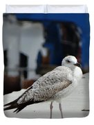 White Bird Port Burgas Duvet Cover
