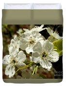 White Blossom  Duvet Cover