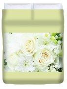 White Bouquet Duvet Cover