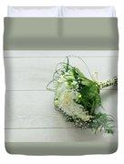 White Wedding Bouquet  Duvet Cover