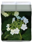 White Bridal Wreath Flowers Duvet Cover