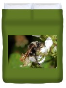 White Bumblebee Duvet Cover