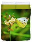 White Butterfly Duvet Cover