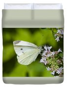 White Butterfly Duvet Cover