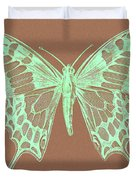 White Butterfly Swallow Tail Le Papillon Machaon Duvet Cover