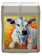 White Calf Duvet Cover