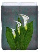 White Calla Lilies Duvet Cover
