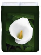 White Calla Lily Duvet Cover by Christine Till