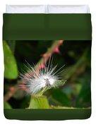White Caterpillar  Duvet Cover