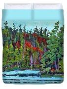 White Cedar Shore Duvet Cover