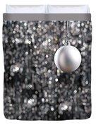 White Christmas Bauble  Duvet Cover