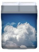 White Clouds In The Sky Duvet Cover