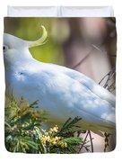 White Cockatoo Duvet Cover