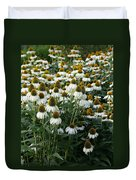 White Coneflower Field Duvet Cover