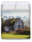 White Country Barn Duvet Cover