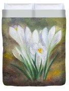 White Crocus Duvet Cover