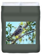 White-crowned Sparrow 0033-111017-1cr Duvet Cover