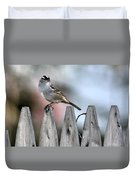 White-crowned Sparrow 2 Duvet Cover