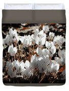 White Cyclamen Duvet Cover