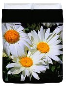 White Daisy Flowers Duvet Cover